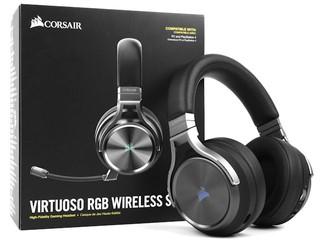 24bit/96KHz、Slipstream 技術 CORSAIR Virtuoso RGB Wireless SE 電競耳機