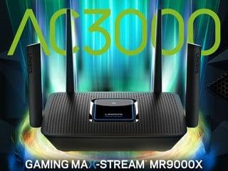 【三頻 Mesh 提供最高 3Gbps 傳輸速度!!】 Linksys 推出全新 MR9000X 電競路由器