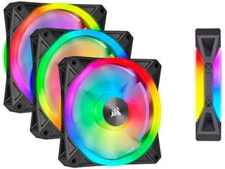 【液壓軸承,雙面 RGB 燈效!!】 Corsair 全新 iCUE QL RGB PWM 散熱風扇