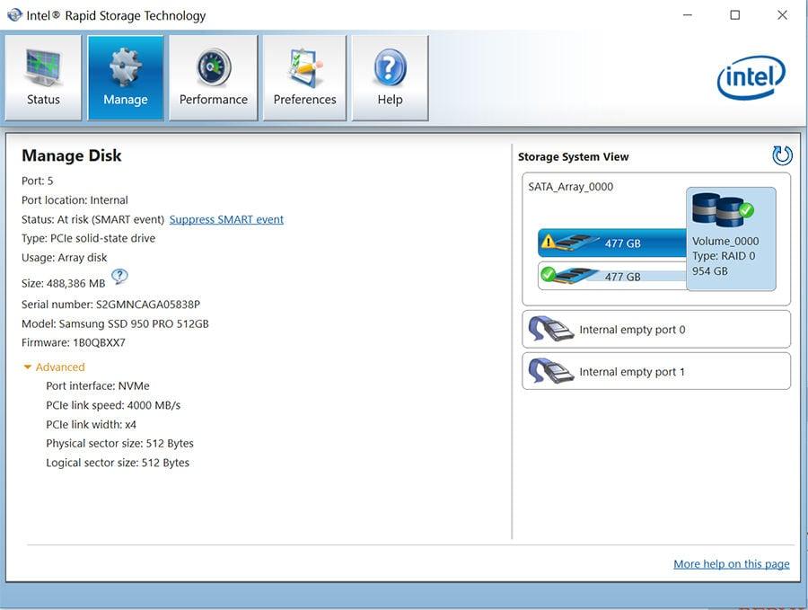 Intel RST