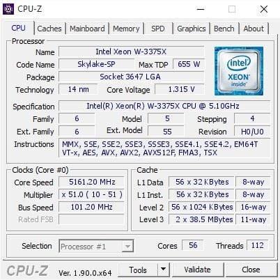 Xeon W-3375X