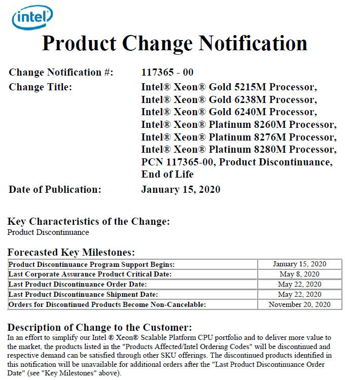 Xeon Scalable M