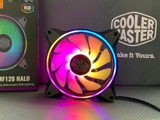 【腦場掃地僧 ㊙️】 正反面雙環 ARGB 風扇 MasterFan MF120 HALO 3 Pack 版HK$495