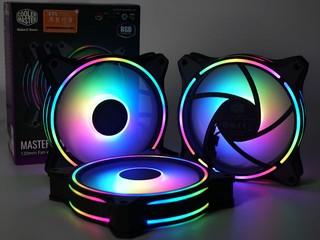 正反面雙環 ARGB 燈效 Cooler Master MasterFan MF120 HALO 風扇