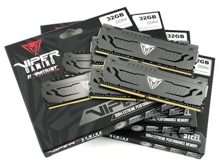 採用 MJR 顆粒、單條 32GB Patriot Viper Steel DDR4-3600 32GB x4 評測