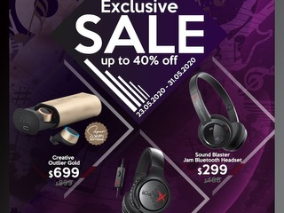 🤩【Creative 5 月激減優惠】🤩 精選耳機低至 6 折!! 最平 $299 有交易