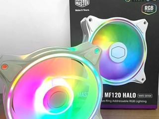 【腦場掃地僧 ㊙️】 正反面雙環 ARGB、白色版本 MasterFan MF120 HALO 白色版賣街 HK$165