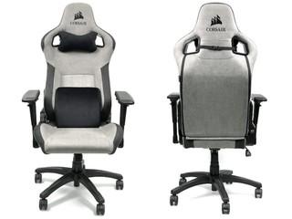 透氣編織軟布、簡約時尚 CORSAIR T3 RUSH 布藝電競椅