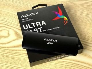 【腦場掃地僧 ㊙️】1GB/s 速度、USB 3.2 Gen 2 ADATA UltraFast SE760 1TB 2 外置 SSD - HK$999