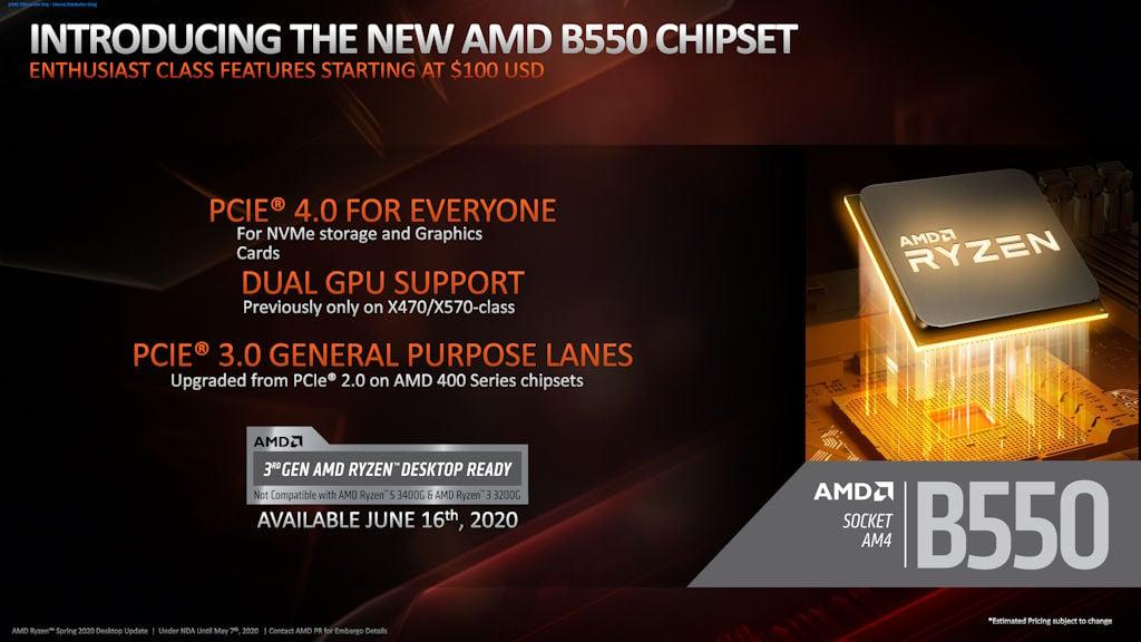 AMD B550 VS B450 晶片組對比