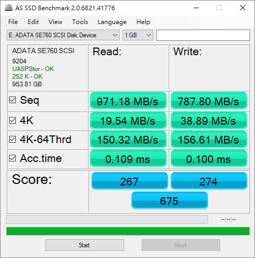 ADATA SE760 USB 3.2 Gen2 SSD
