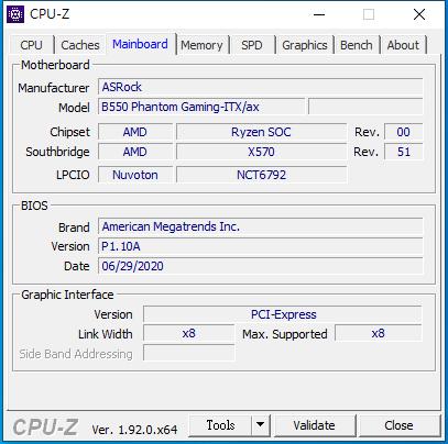 ASROCK B550 Phantom Gaming ITXax