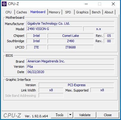 GIGABYTE Z490 VISION G