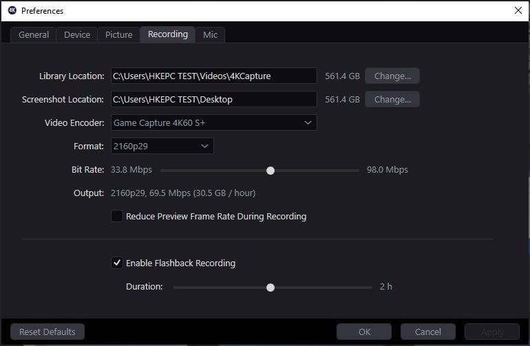 ELGATO 4K Capture Utility