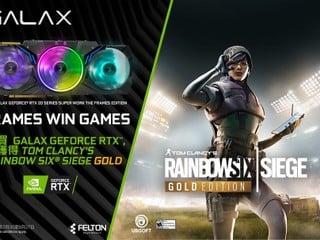 GALAX R6 SIEGE TOGETHER 🔫🔫優惠 買 RTX 20 系列繪圖卡送 R6 SIEGE 黃金版