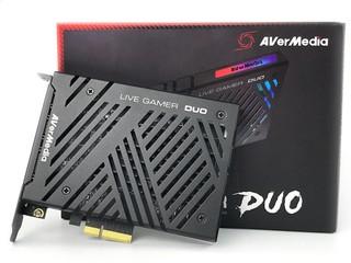 雙 HDMI 擷取、直播實時切換 AVerMedia Live Gamer DUO PCIe 擷取卡