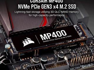 【8TB 大容量】最高讀寫 3400MB/s、3000 MB/s  CORSAIR 全新 MP400 系列 Gen3 PCIe x4  SSD
