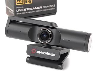 AI 人臉追蹤、自動變焦 AVerMedia Live Streamer CAM 513