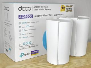 AI 智慧天線、強化覆蓋 TP-Link Deco X90 AX6600 Mesh Router