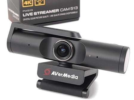 AI 人臉追蹤、自動變焦 AVerMedia Live Streamer CAM 513
