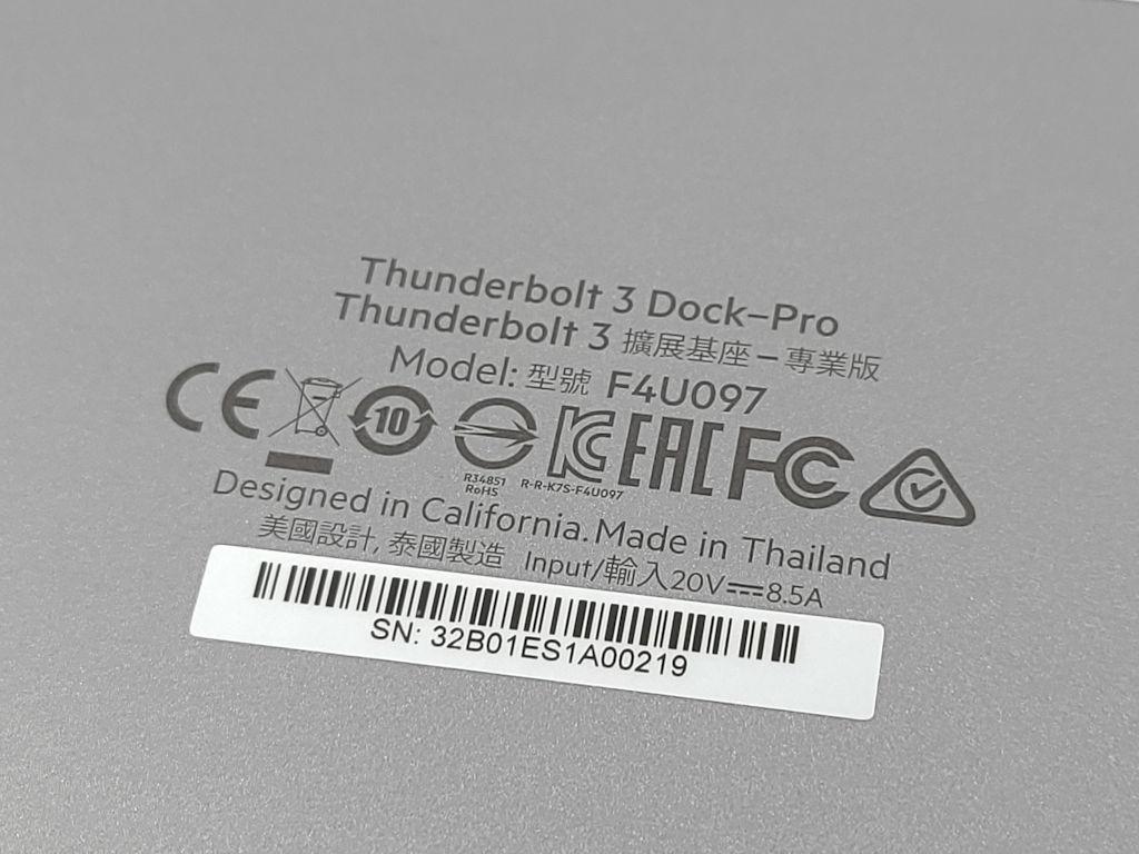 Belkin Thunderbolt 3 Dock Pro 開箱