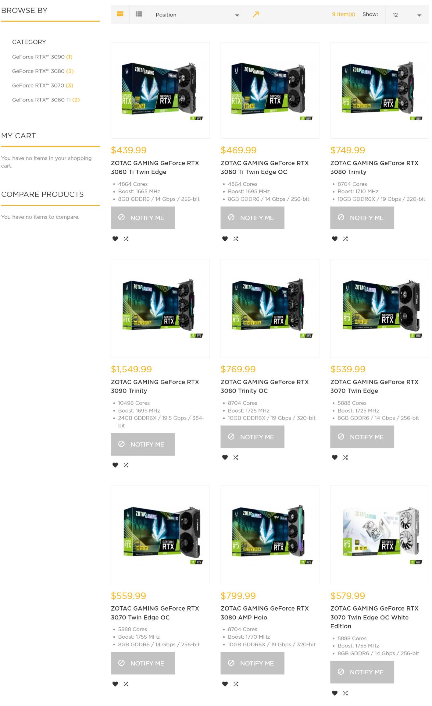 RTX 30 Price Increase