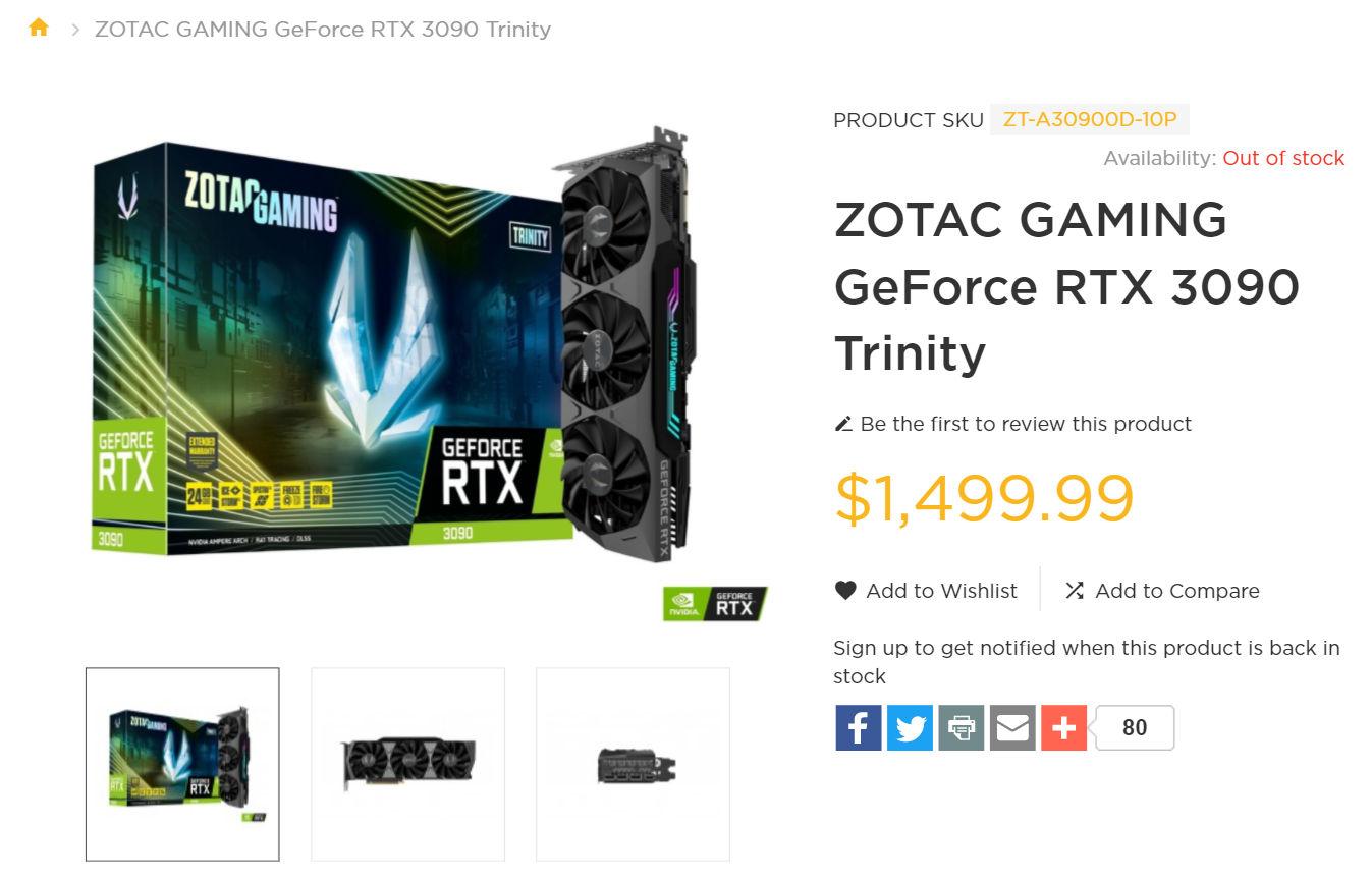 ZOTAC GAMING GeForce RTX 3090 Tr