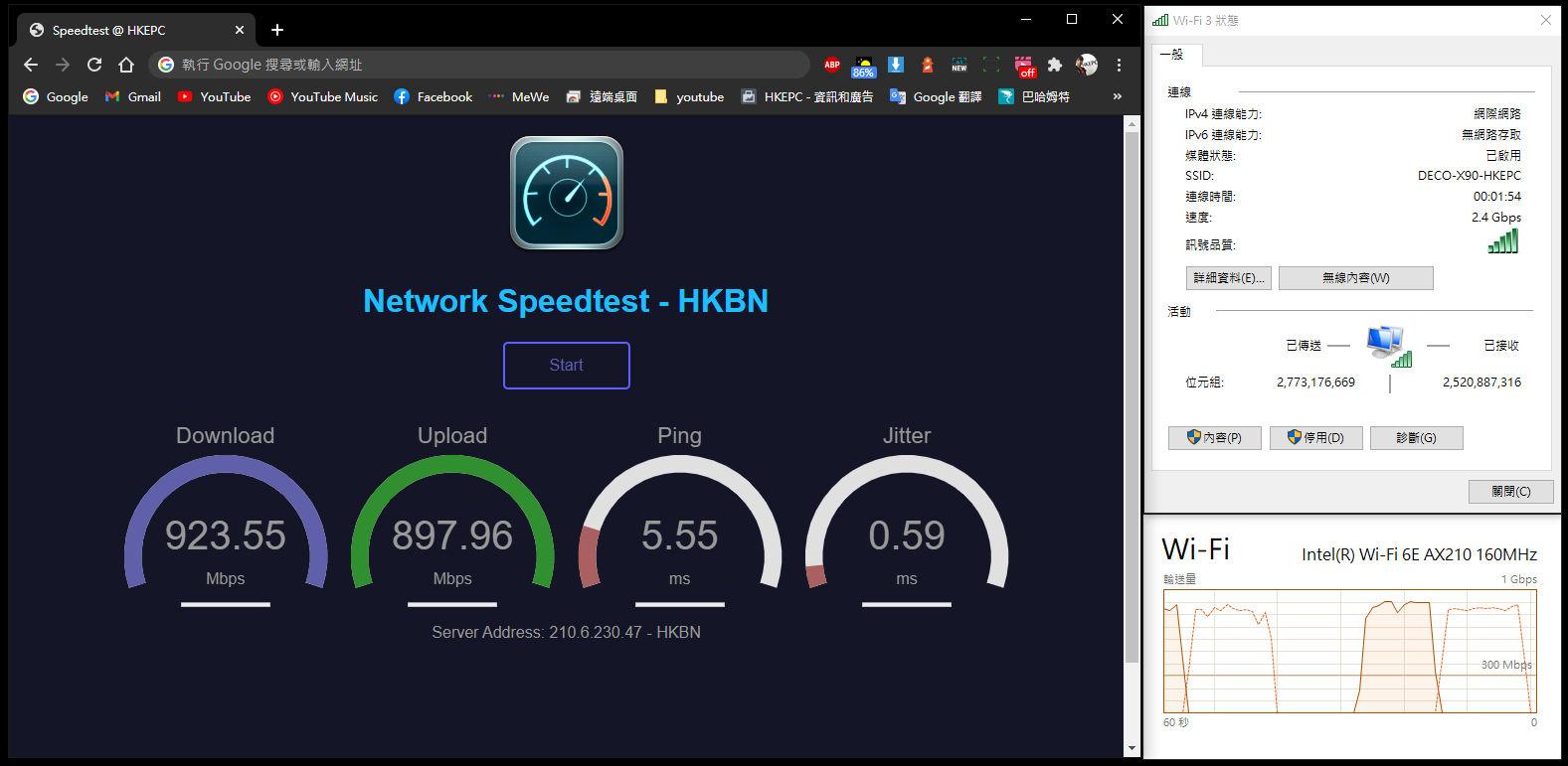 TP-Link Deco X90 Mesh Wi-Fi 速度測試