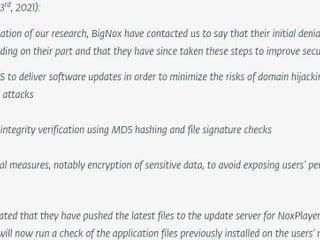 不再使用 HTTP 、加入 MD5 檔案驗証 BigBox 已修補 NoxPlayer 模擬器更新漏洞