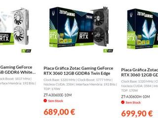 NVIDIA GeForce RTX 3060 12GB 食炒價 痴 X 線 !! 最平賣 629 歐元、最貴 699 歐元