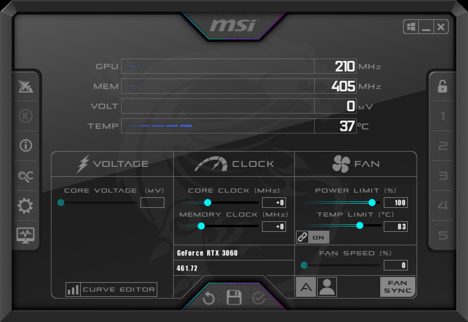 MSI RTX 3060 GAMING X TRIO 12G測試