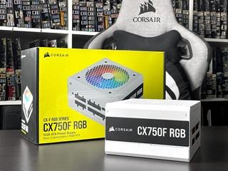 支援 iCUE ARGB 燈效同步 !! CORSAIR CX750F RGB 銅牌全模組 PSU 實測