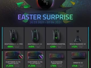 【減價優惠】🐍 Razer 復活節彩蛋驚喜🐇 十幾款鍵盤、滑鼠、週邊產品減價 最平 $129 起