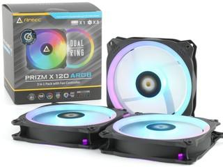 升級 24 顆 LED、附連 HUB  Antec Prizm X 120 ARGB 3+C 風扇套裝