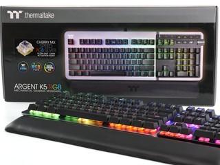 極速銀軸、 360 度環繞燈效 Thermaltake ARGENT K5 RGB 機械鍵盤