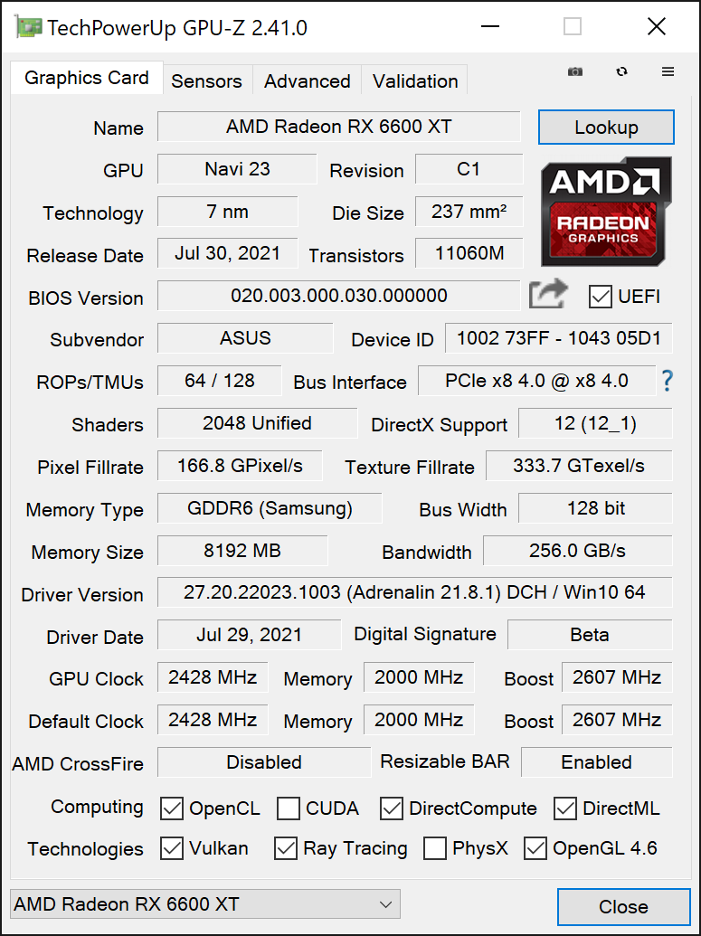 RX 6600 XT