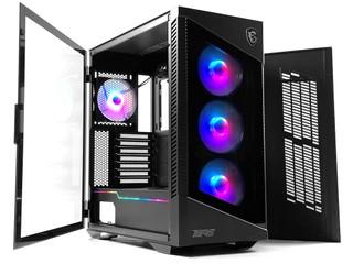 雙玻璃、前置 20Gbps USB-C MSI MPG VELOX 100R Mid-Tower 機箱