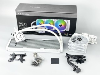 白色版本、ARGB 燈效同步 Thermaltake TH360 ARGB Sync Snow Edition