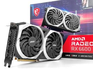 2.3 Slot、TORX 3.0 雙風扇 MSI Radeon RX 6600 MECH 顯示卡